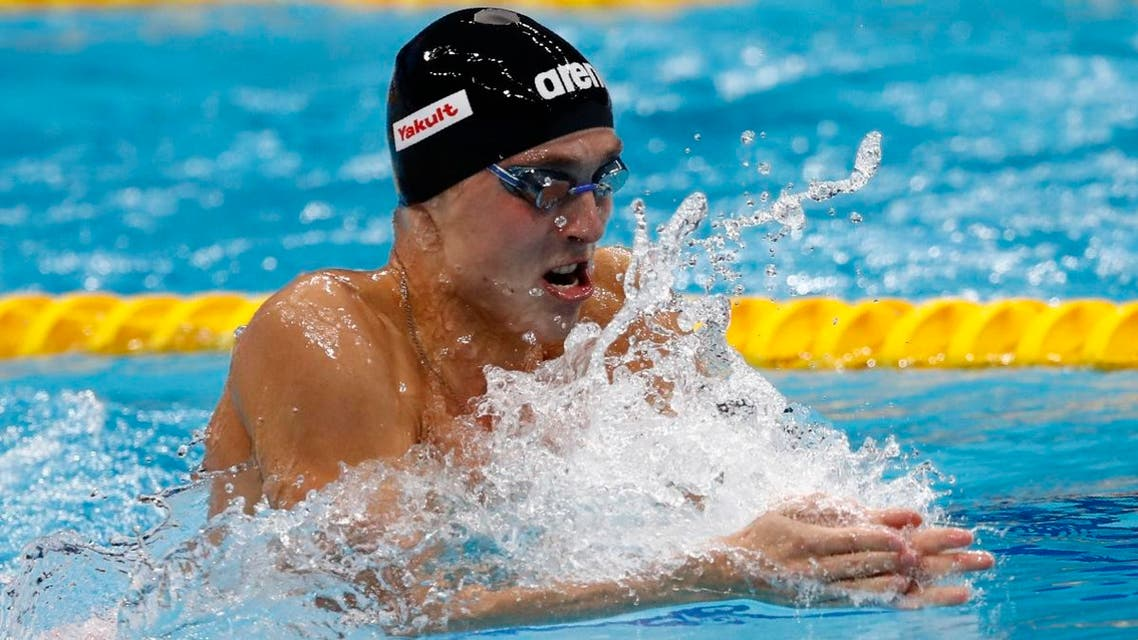 Chupkov overhauled his Japanese rivals to claim men's 200m breaststroke gold in two minutes 06.96 seconds. (Reuters)
