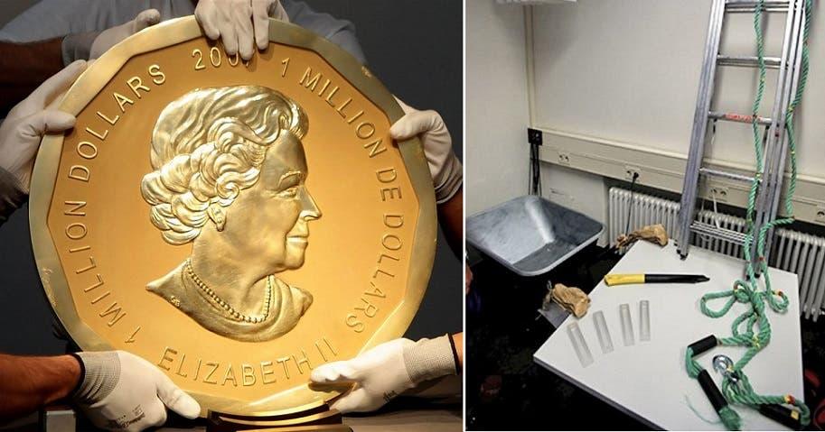 عدة السرقة التي استخدموها، وجدتها الشرطة في المنزل الذي داهمته، وصورة للقطعة الذهبية