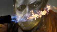 Playing with fire: Czech artist creates steel portraits with flame