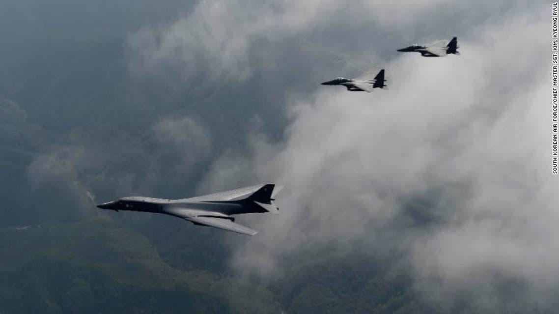 پرواز بمبافکنهای آمریکا برفراز شبه جزیره کره