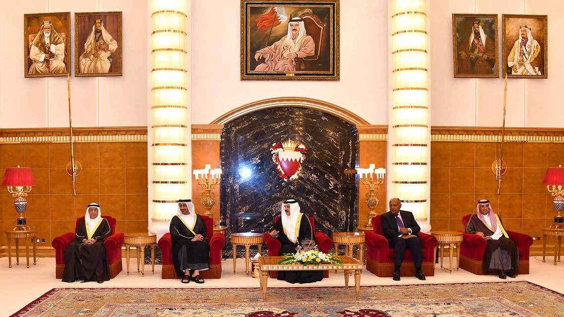 ملك البحرين يستقبل وزراء خارجية السعودية ومصر والإمارات