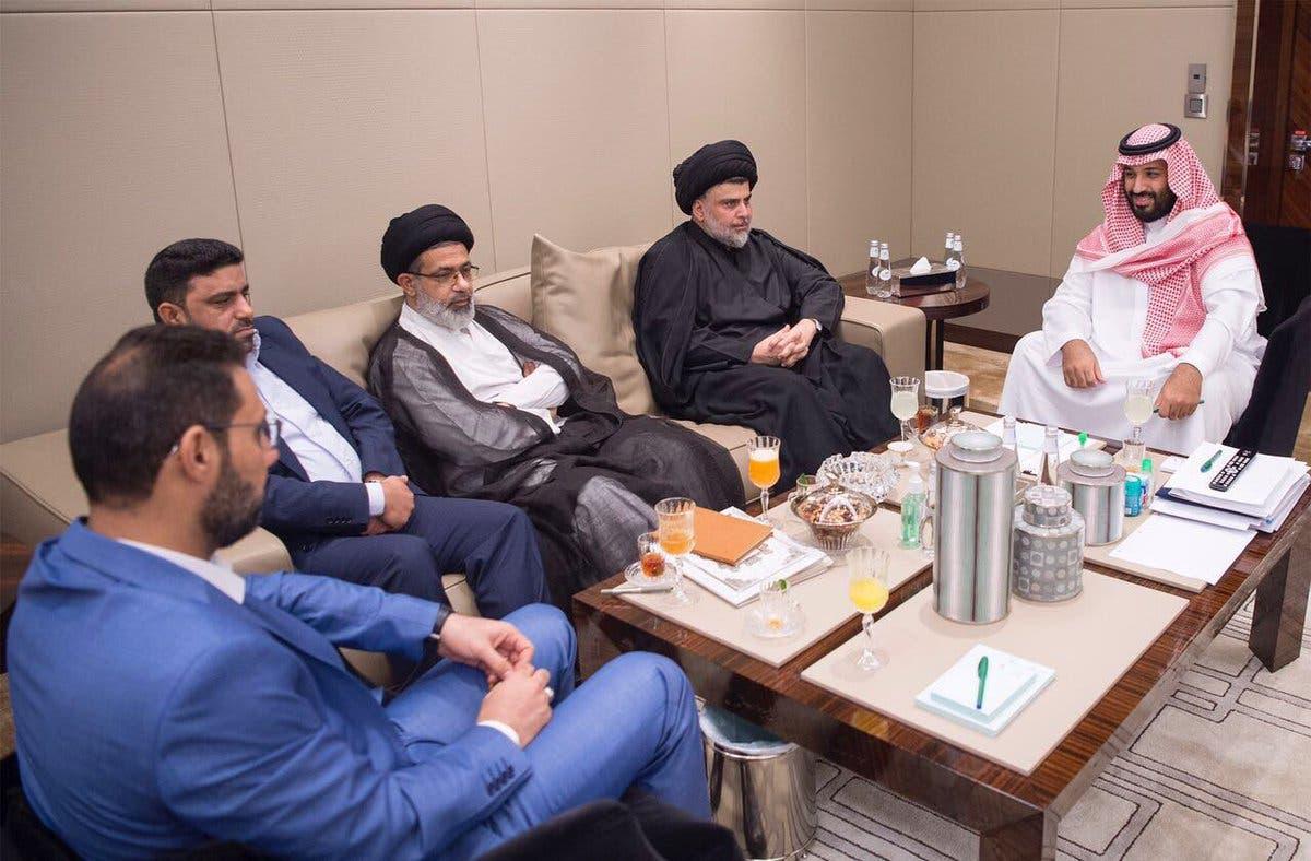 محمد بن سلمان يلتقي مقتدى الصدر في جدة