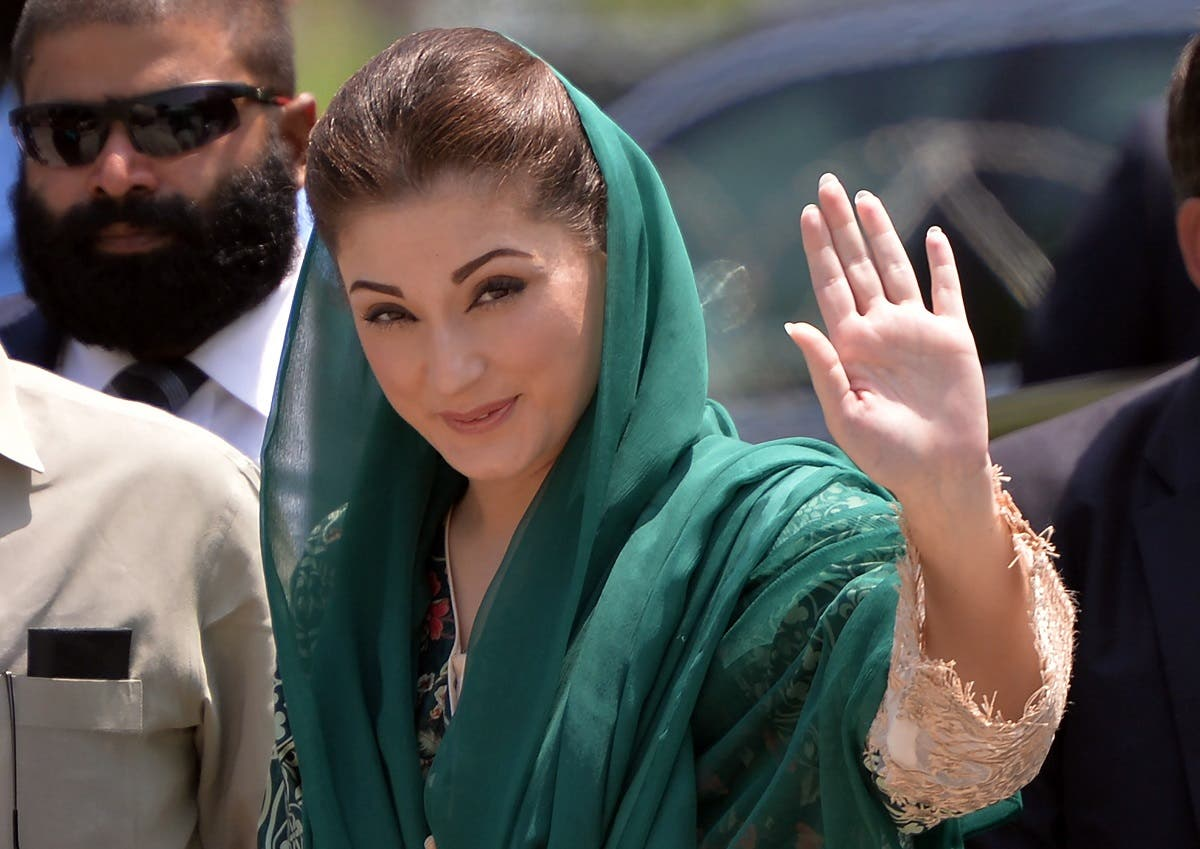 The daughter of Pakistani Prime Minister Nawaz Sharif, Maryam Nawaz, arrives to appear before an anti-corruption commission at the Federal Judicial Academy in Islamabad on July 5, 2017. (AFP)
