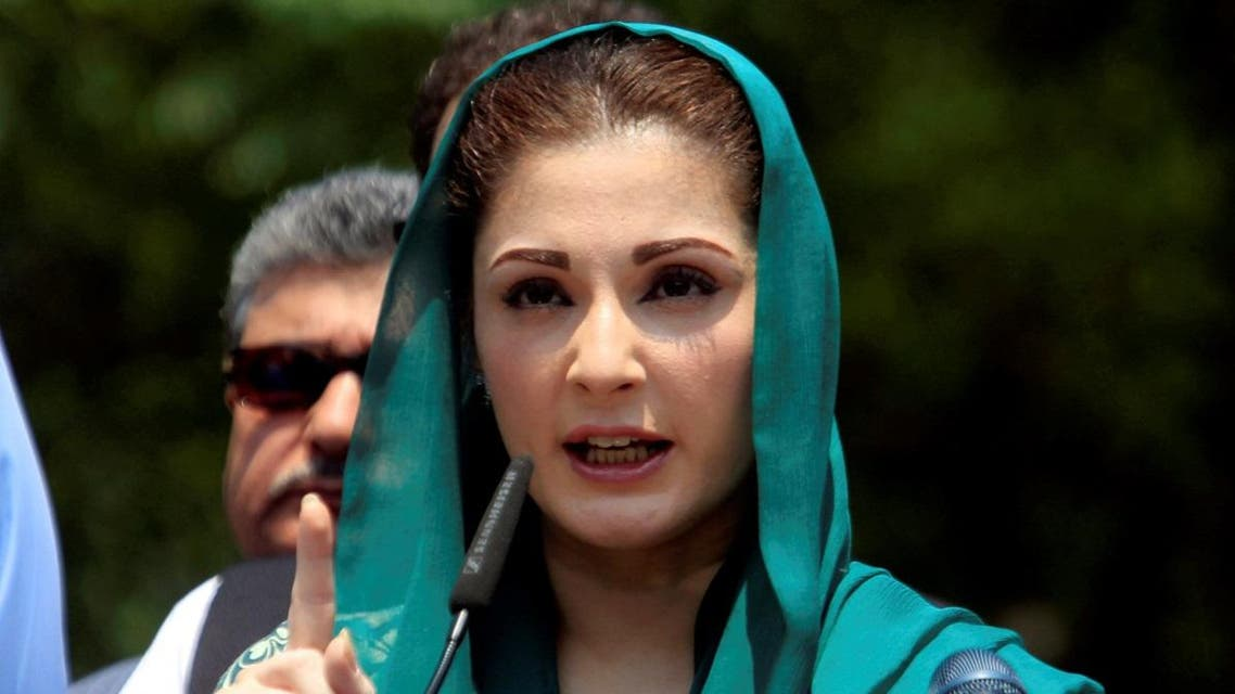 Maryam Nawaz, the daughter of Pakistan's Prime Minister Nawaz Sharif gestures as she speaks to media after appearing before a Joint Investigation Team (JIT) in Islamabad. (Reuters)