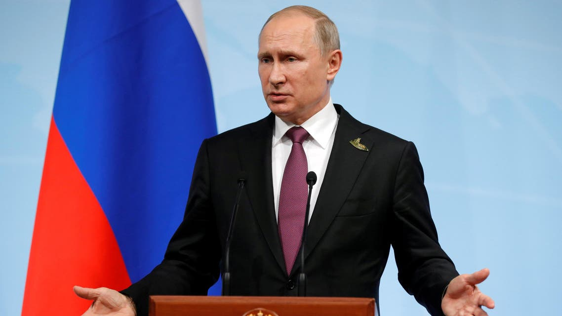 Russian President Vladimir Putin speaks during a news conference reuters