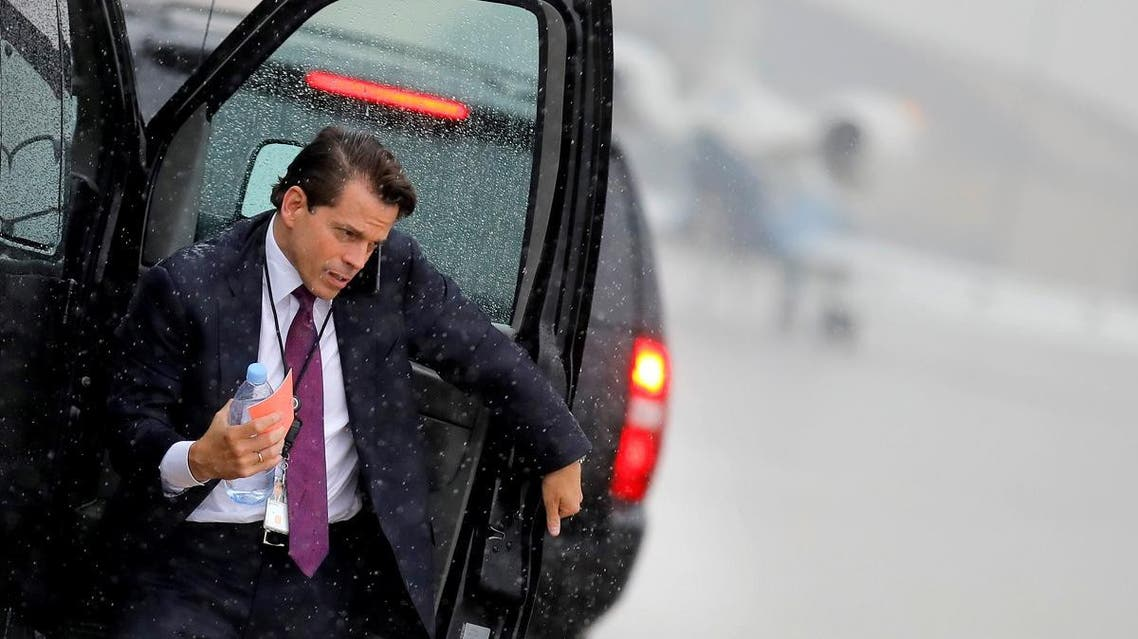 Scaramucci arrives to travel with U.S. President Donald Trump to Ronkonkoma, New York from Joint Base Andrews, Maryland. (File photo: Reuters)