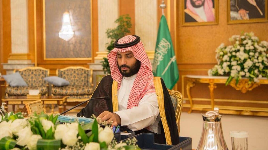 الأمير محمد بن سلمان خلال اجتماع مجلس الوزراء 31-7-2017