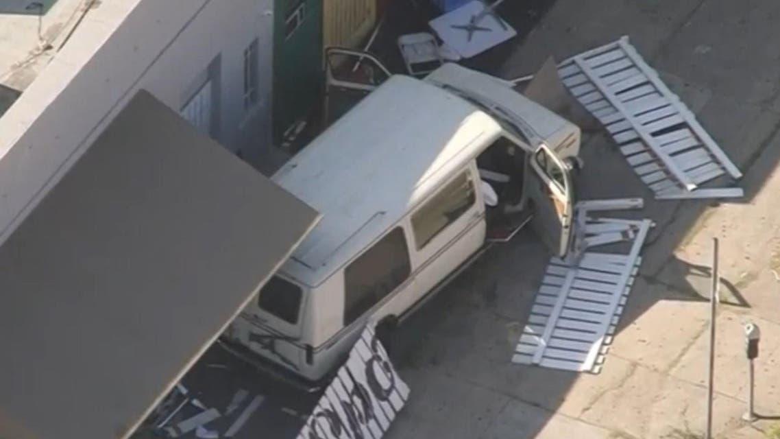 LA reuters van crash