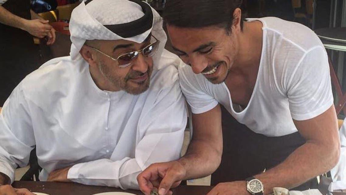 Nusret Gökçe shared an Instagram snap of the crown prince at the Abu Dhabi branch of Nusr-et Steakhouse. (Instagram)
