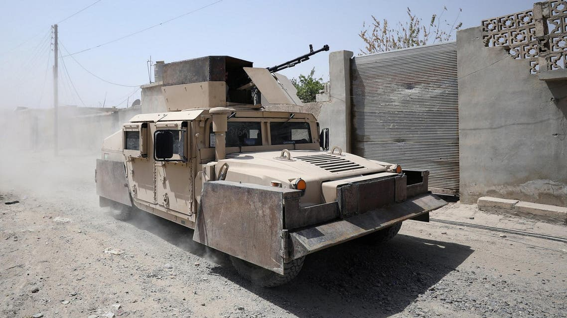 A military vehicle from Syrian Democratic Force is seen in Raqqa city, Syria July 28, 2017. (Reuters)