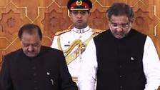 پاکستان کے نئے وزیراعظم شاہد خاقان عباسی کی حلف برداری