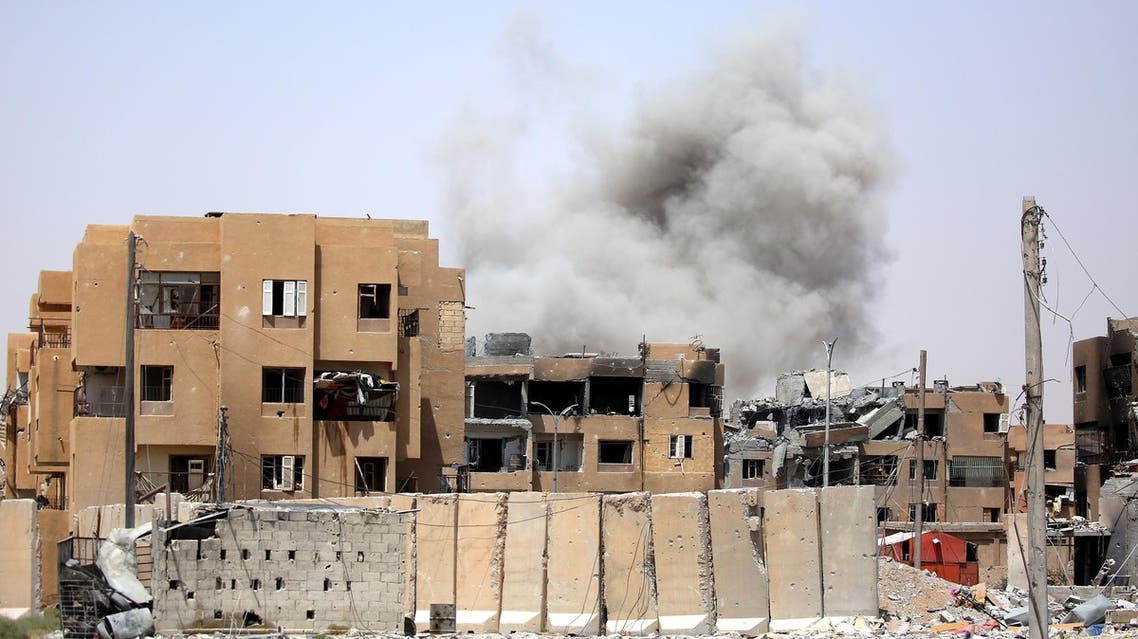 Smoke billows out from Raqqa following a coalition air strike on July 28, 2017. (AFP)