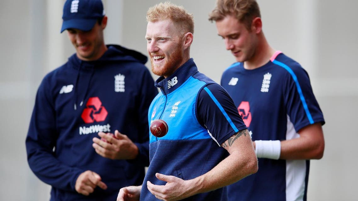 England's Ben Stokes, Steven Finn and Stuart Broad during nets in Manchester, Britain. (Reuters)