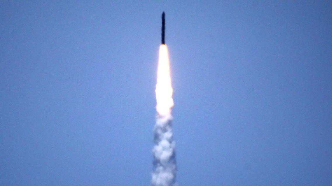 The Ground-based Midcourse Defense (GMD) element of the US ballistic missile test from Vandenberg Air Force Base, California, US, May 30, 2017.(Reuters)