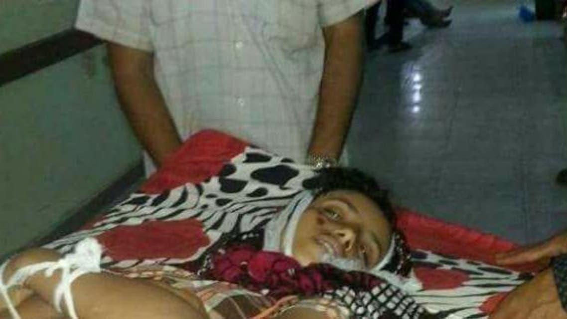 الطفلة هدى نجيب الجابري (13 عاماً) والتي قتلت برصاص قناص حوثي في 22 يونيو الماضي
