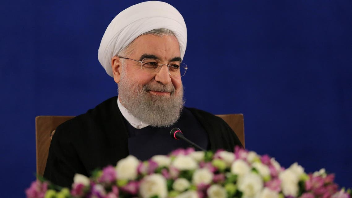Iranian president Hassan Rouhani attends a news conference in Tehran, Iran, May 22, 2017. (AFP)