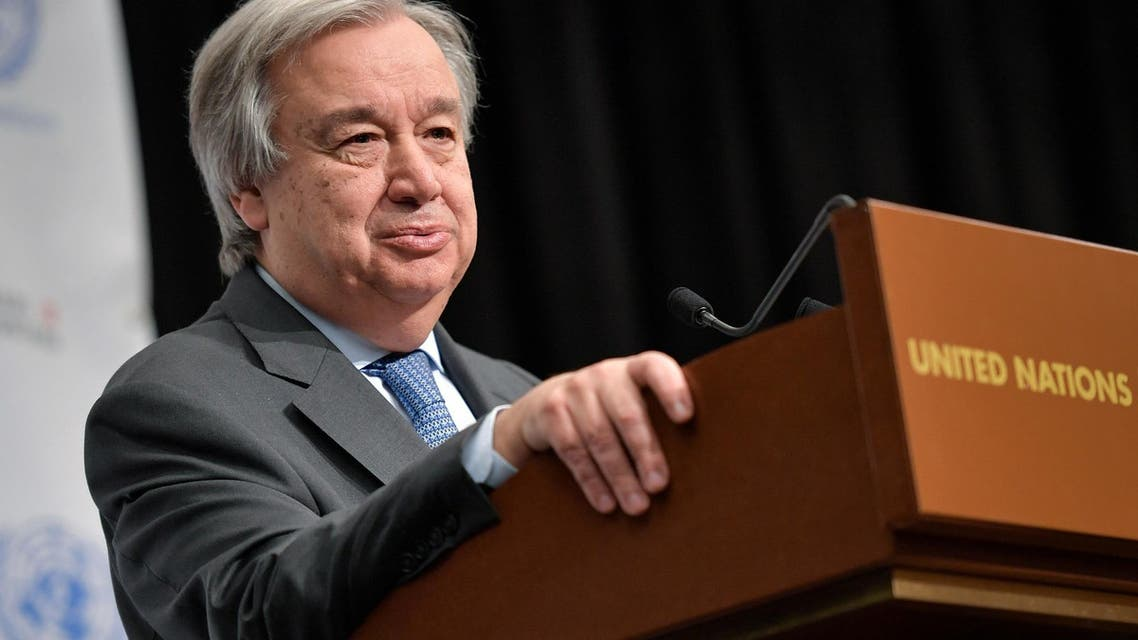 UN Secretary General Antonio Guterres will travel to Palestine and Israel on August 28. (AFP)