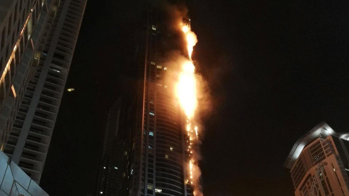 An investigation by the management of the Torch after its 2015 fire found that most of the damage was to the cladding. (Reuters)