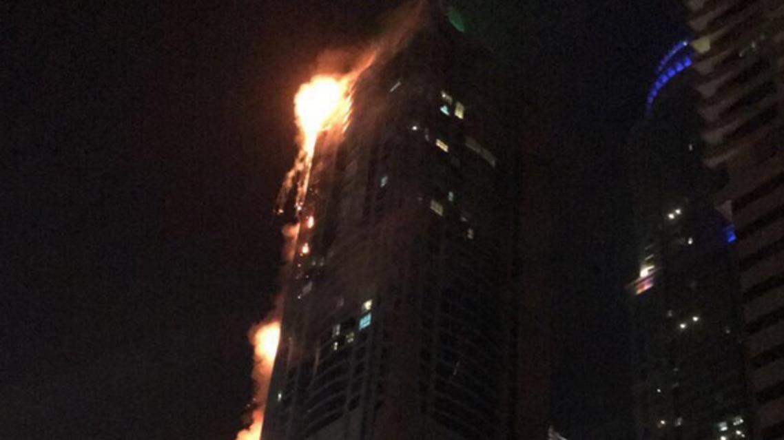 دبي حريق