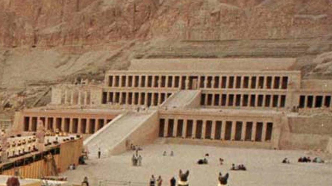 A general view of the temple of Queen Hatshepsut in Luxor were 5 islamists attacked tourists on November 17.