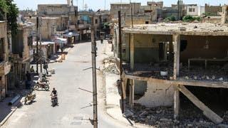 صورة أرشيفية من أحد شوارع حمص