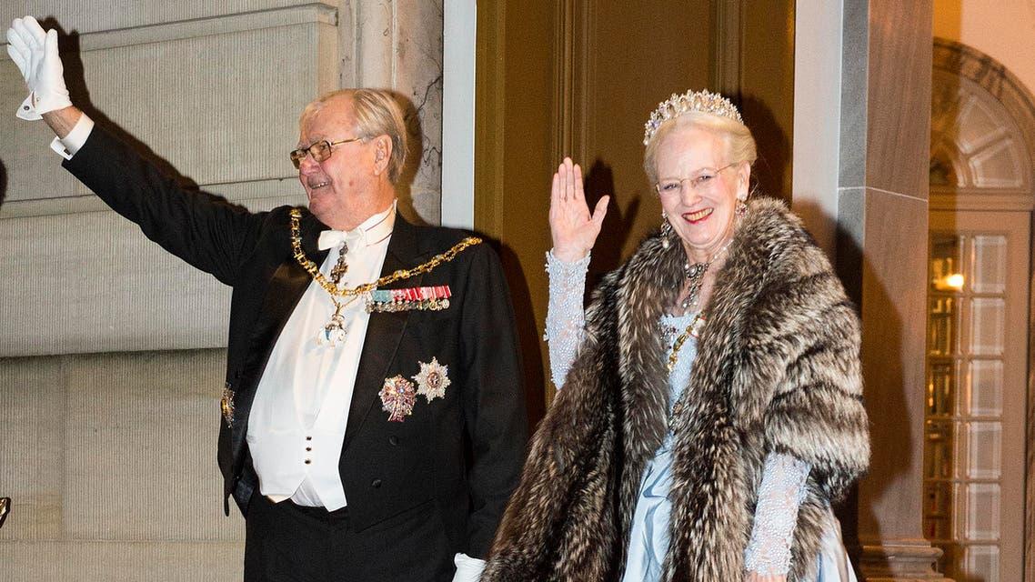 الأمير هنريك مع زوجته الملكة مارغريت خلال إحدى المناسبات الرسمية