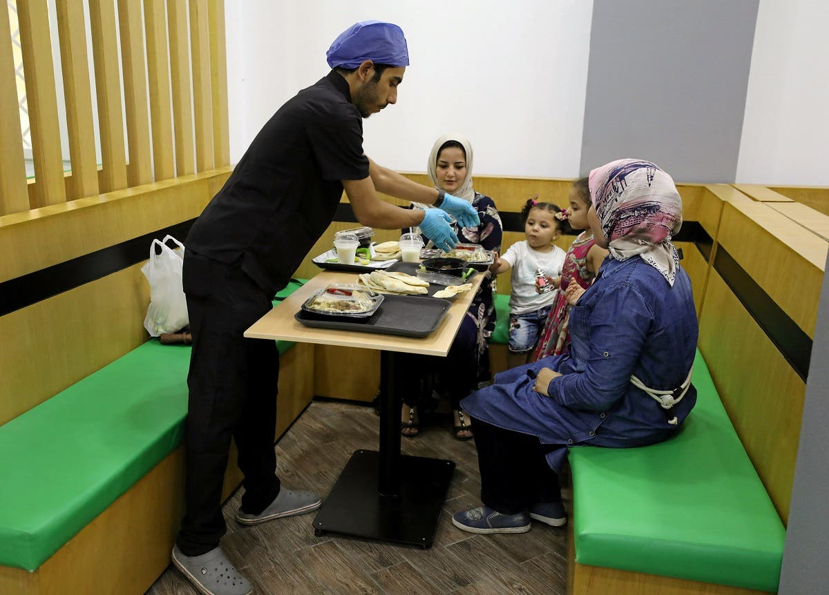 Egyptian liver delicacy on the table at operating room themed restaurant