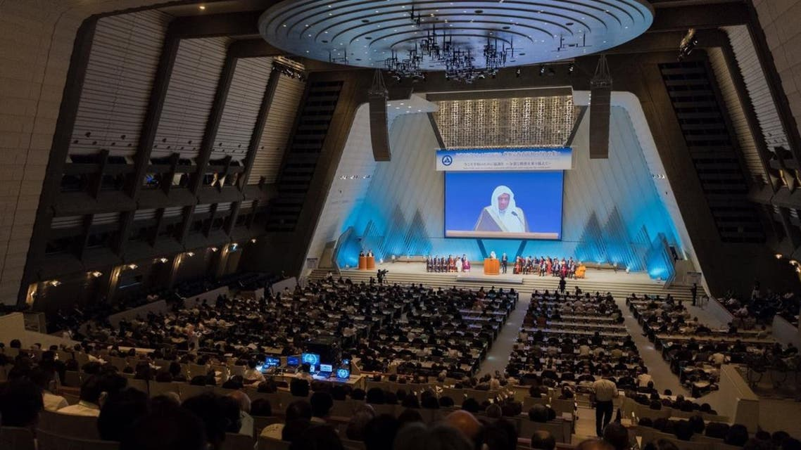 Dr. Issa delivered a speech as a key speaker on behalf of the Muslim world. (MWL)