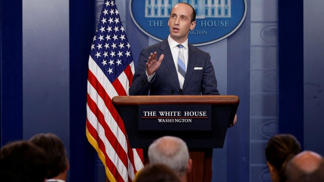 White House senior policy advisor Stephen Miller discusses US immigration policy at the daily press briefing at the White House in Washington, on August 2, 2017. (Reuters)