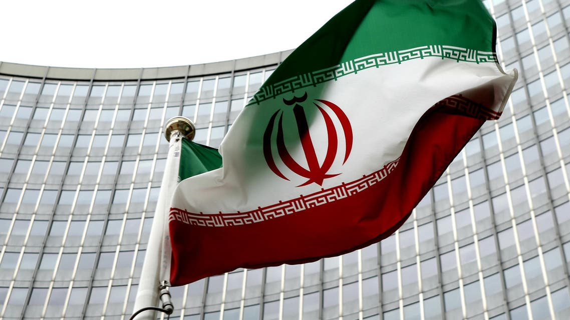 An Iranian flag flutters in front of the IAEA headquarters in Vienna. (Reuters)