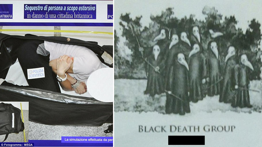 بهذه الطريقة وضعتها جماعة الموت الأسود مغميا عليها في حقيبة سفر ونقلوها الى حيث احتجزوها