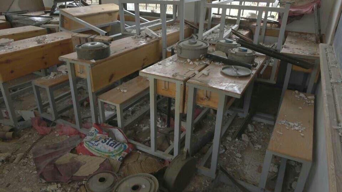 مدرسة نجران في مأرب حولتها ميليشيا الانقلاب إلى معمل لصناعة الألغام
