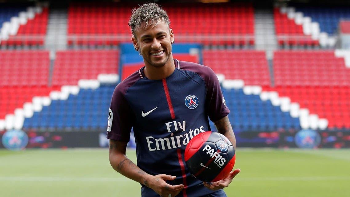 Soccer Football - Paris Saint-Germain F.C. - Neymar Jr Press Conference - Paris, France - August 4, 2017 New Paris Saint-Germain signing Neymar Jr REUTERS/Christian Hartmann