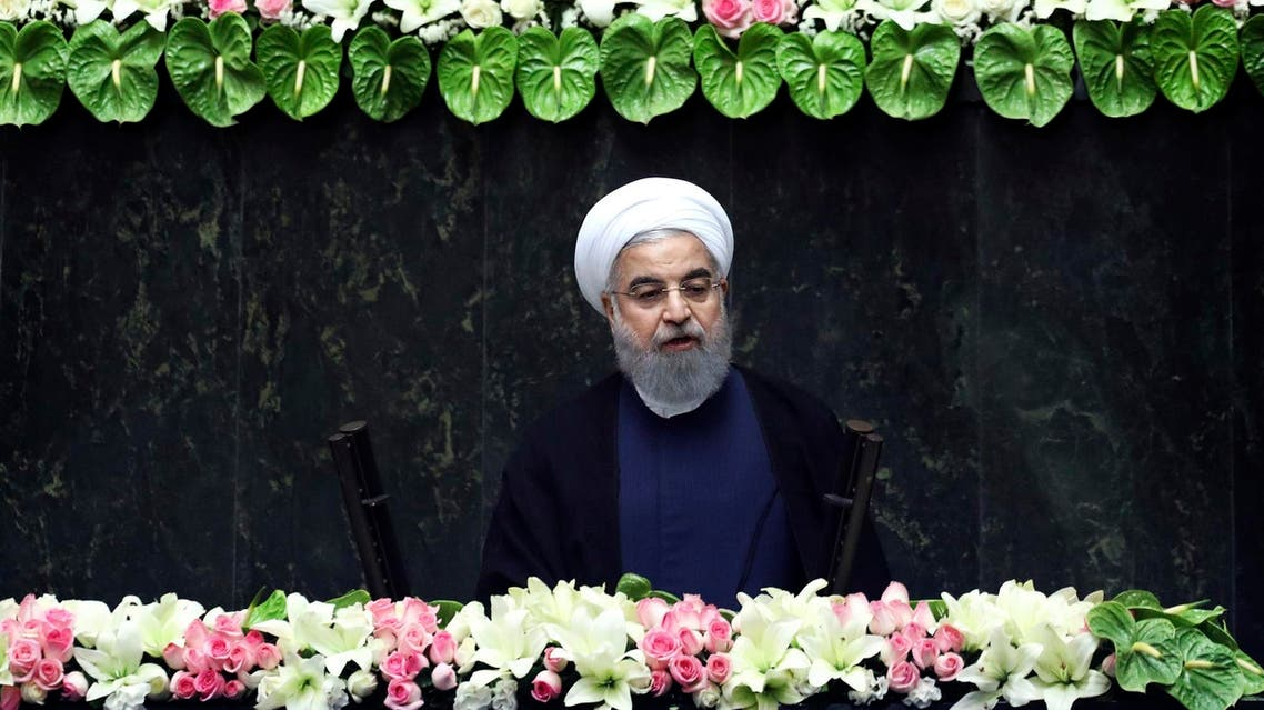 Rouhani during re-election speech in Tehran. (AP)
