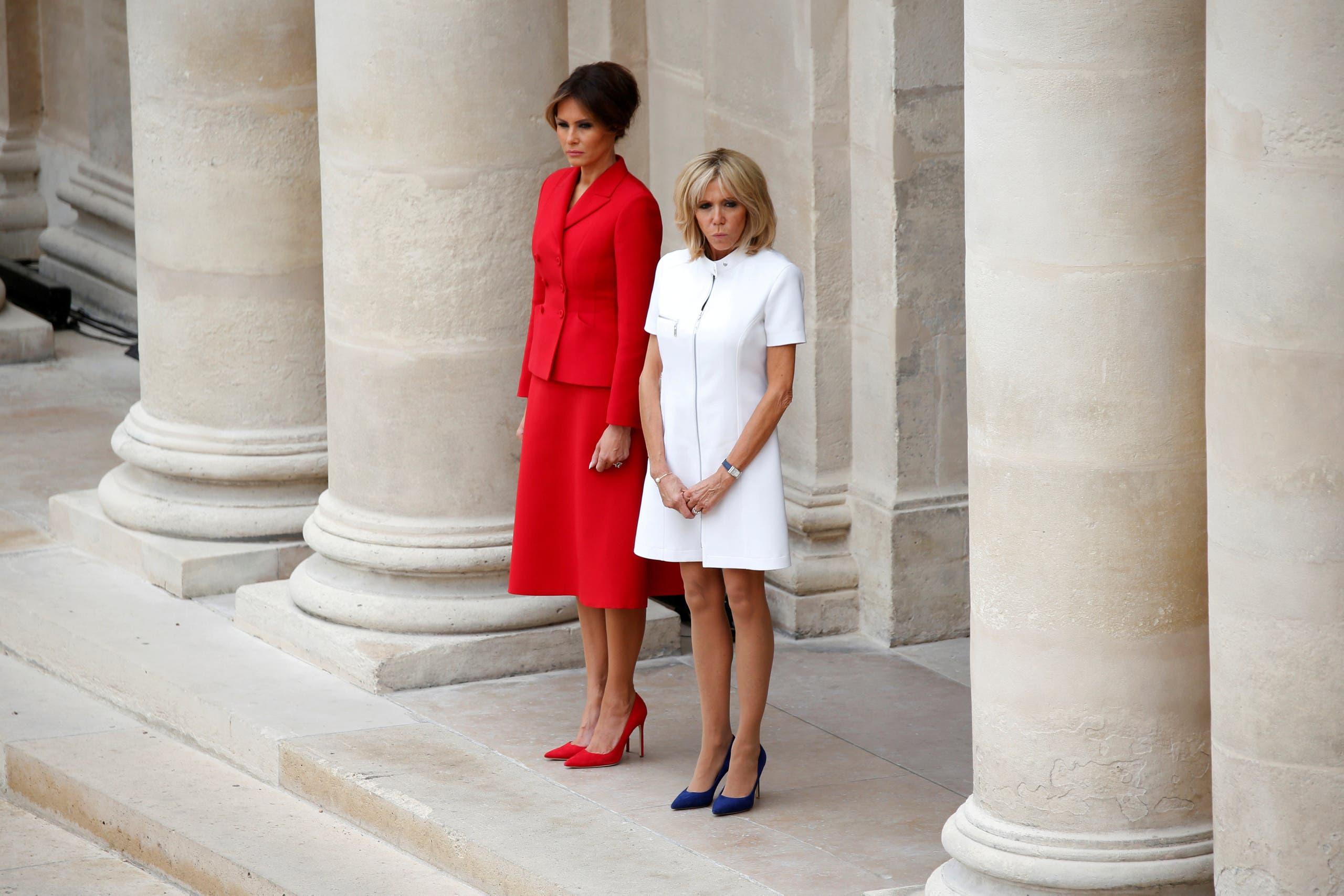 بريجيت وميلانيا ترمب خلال زيارة الرئيس الأميركي وزوجته لفرنسا في يوليو الماضي
