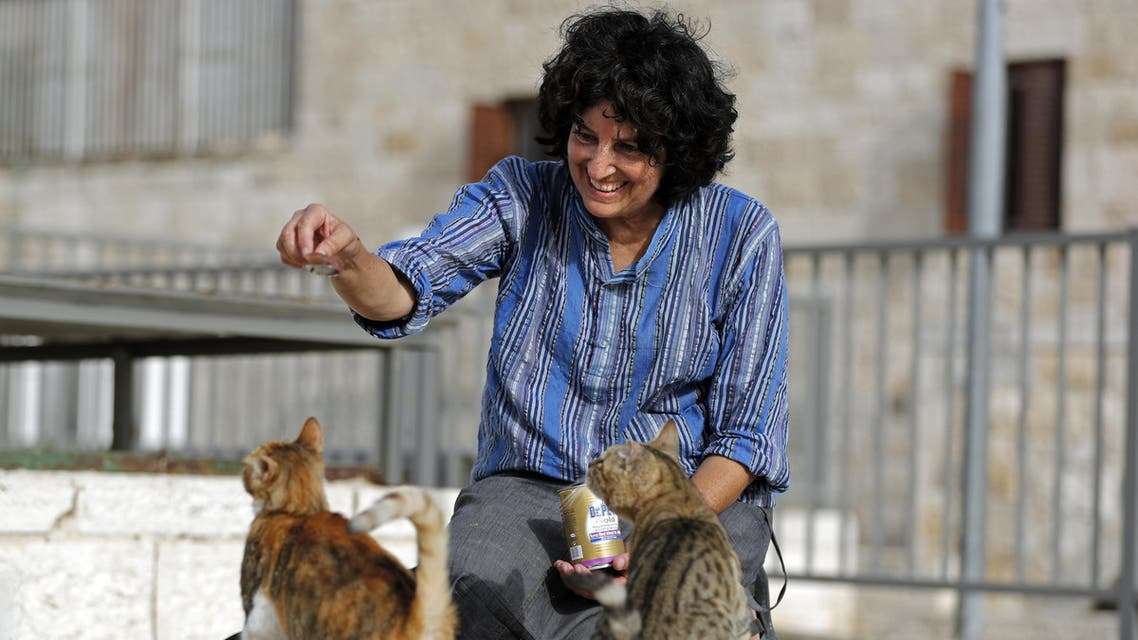 """Tova Saul earning the informal title of the walled Old City's """"cat lady"""""""
