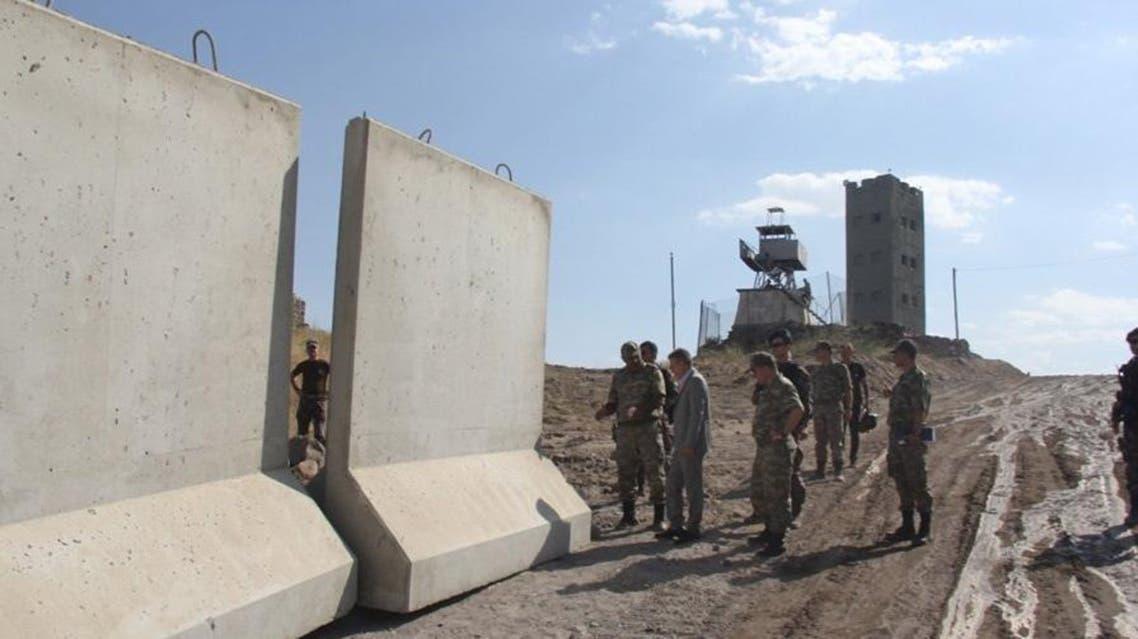عمليات بناء جدار على حدود تركيا و إيران ايران الحدود التركية الإيرانية