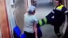 Shocking footage shows paramedic kick a pregnant woman in the stomach