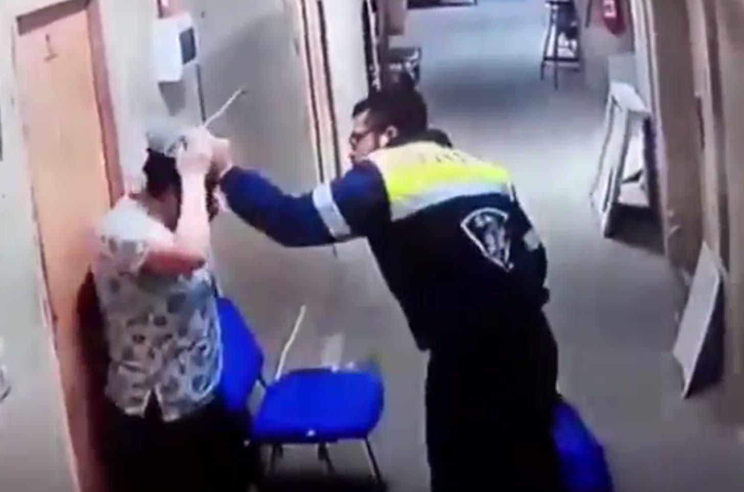 paramedic kicks pregnant wife
