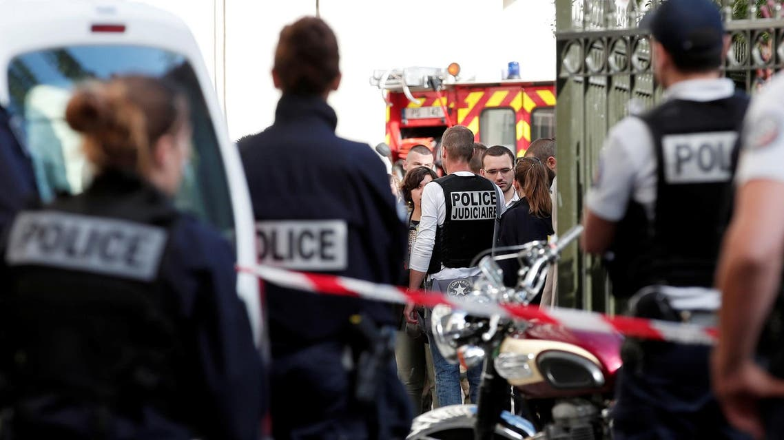 Police work near the scene where French soliders were hit and injured by a vehicle in the western Paris suburb of Levallois-Perret, France, August 9, 2017. REUTERS