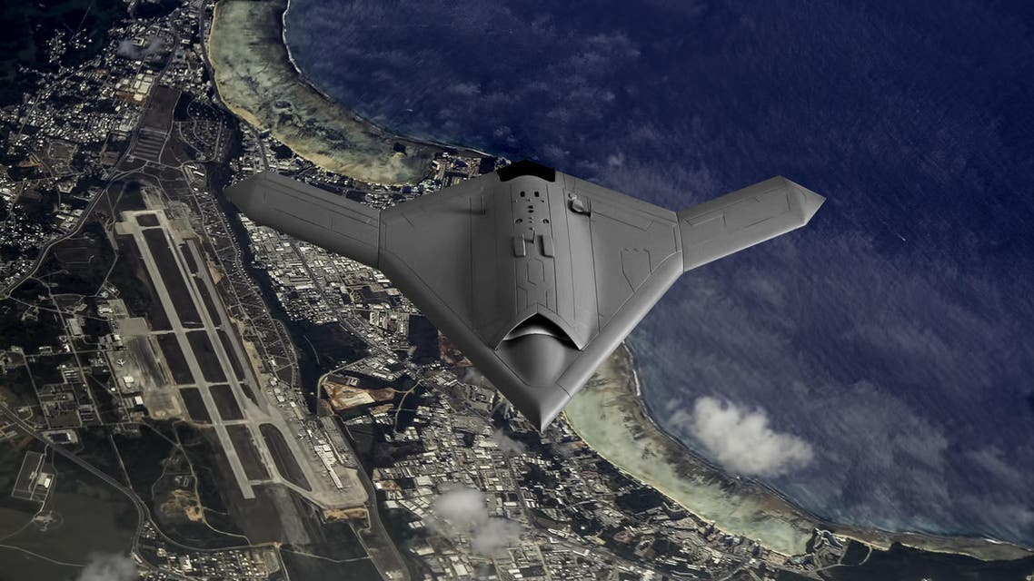 Artist's impression of a drone as it flies over the pacific Island of Guam. (Shutterstock)