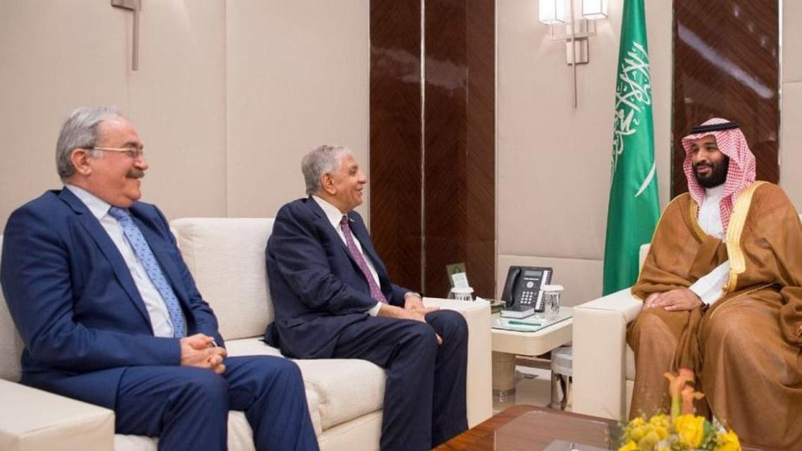 نائب خادم الحرمين الشريفين مع وزير النفط العراقي