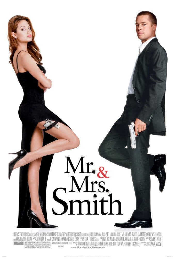 Jolie and Pitt starring in Mr and Mrs Smith in 2005. (IMDB)