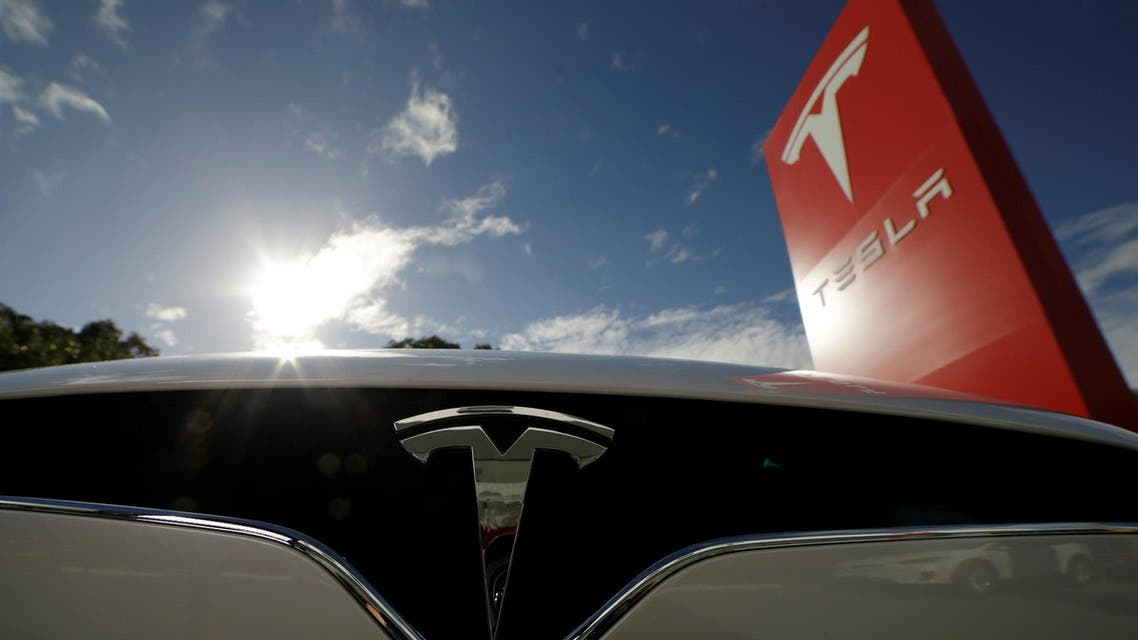 Tesla Model X car is pictured at a Tesla electric car dealership in Sydney, Australia. (Reuters)