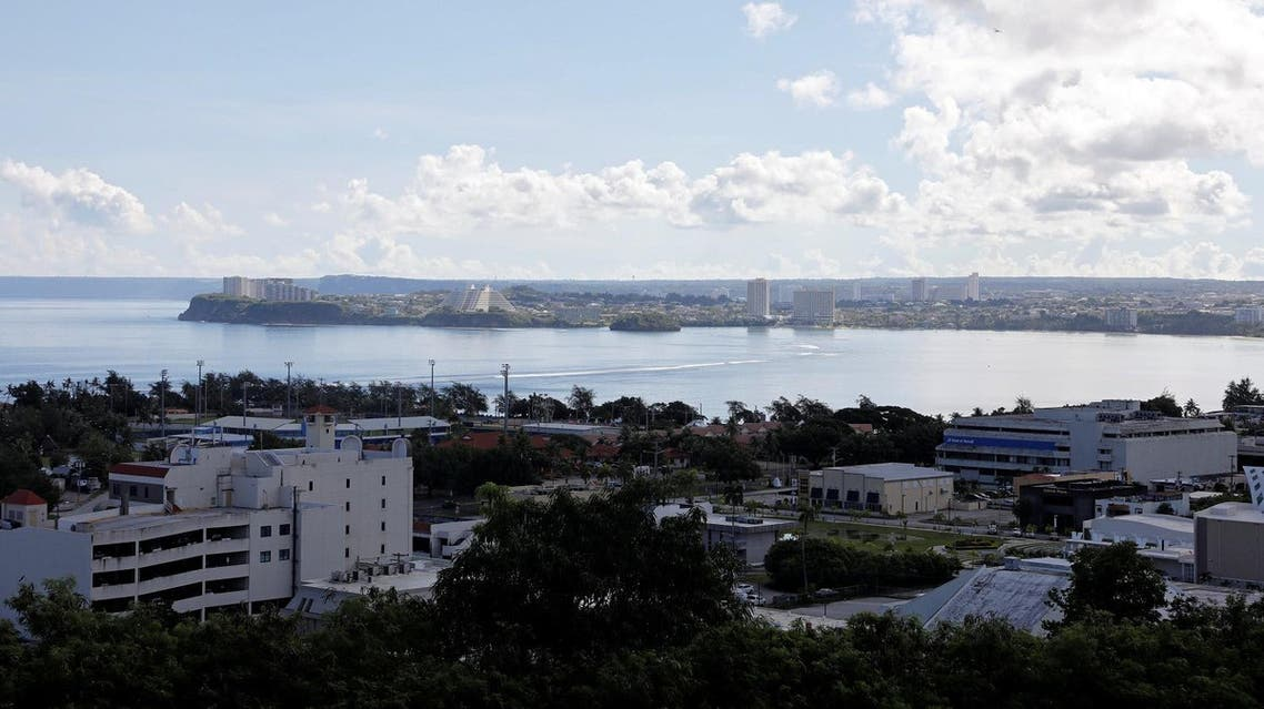 A view of a part of the Tamuning city overlooking the Tumon tourist district on the island of Guam, a US Pacific Territory, on August 11, 2017. (REuters)