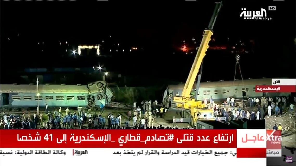 egypt train crash alexandria al arabiya