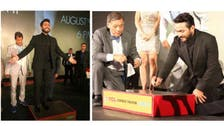 PHOTOS: Tamer Hosny gets his hand & foot imprint in LA ceremony