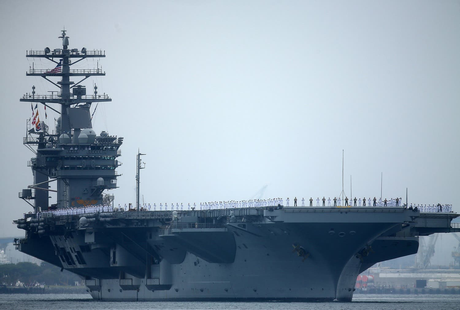 File photo of aircraft carrier USS Nimitz with Carrier Strike Group 11. (Reuters)