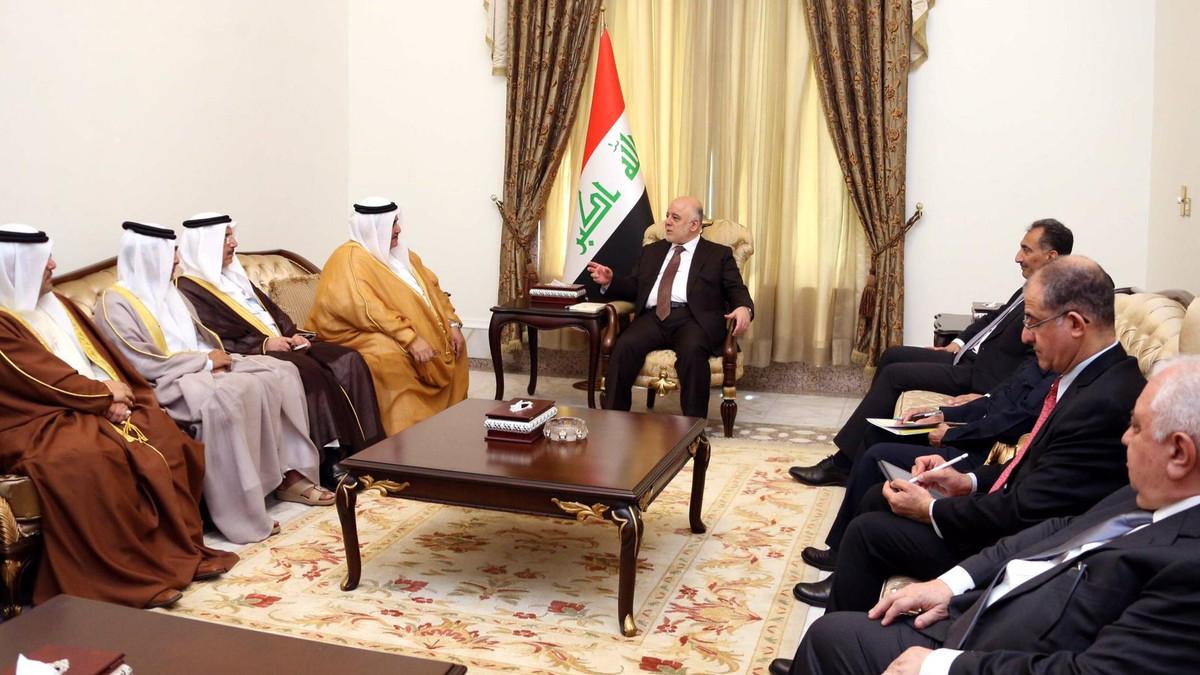 العبادي مستقبلاً وزير خارجية البحرين