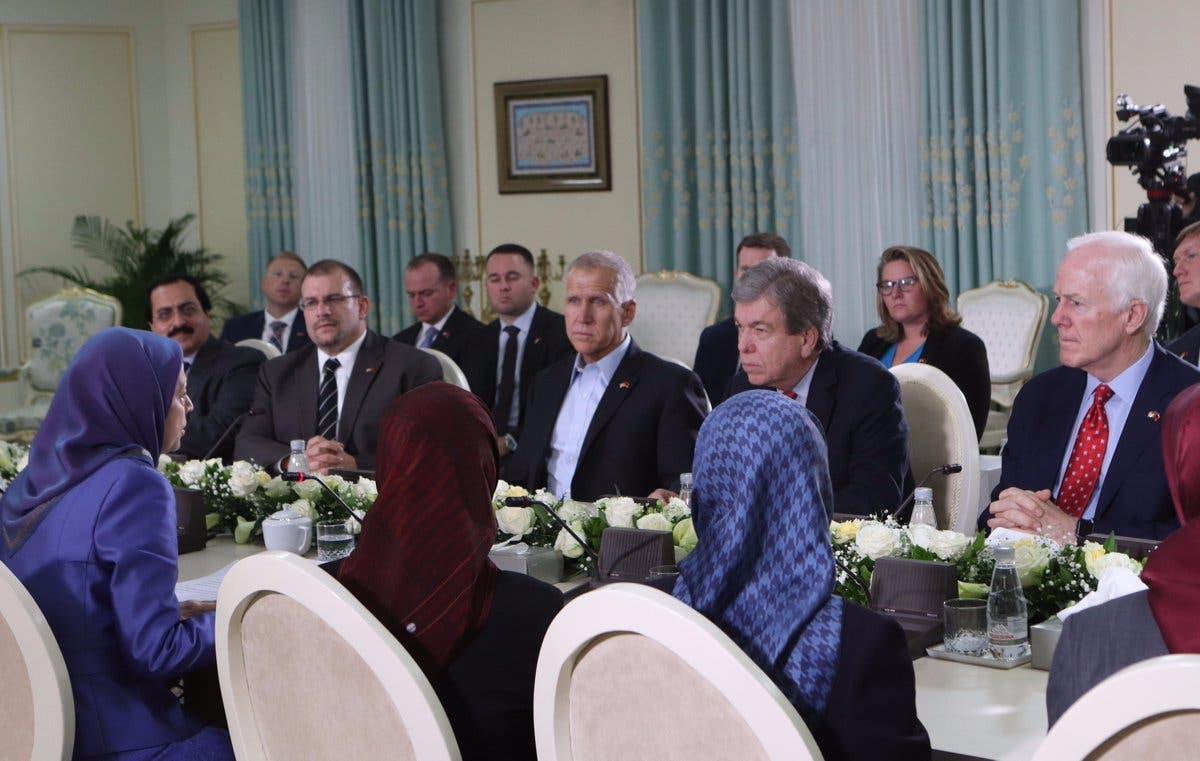 Four US Senators met with Maryam Rajavi in Tirana, Albania. (Supplied)